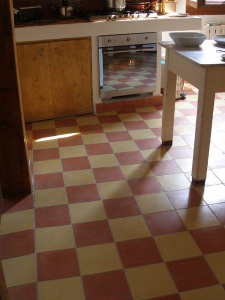 Küche Mit Zementfliesen Uni 31 Und 38